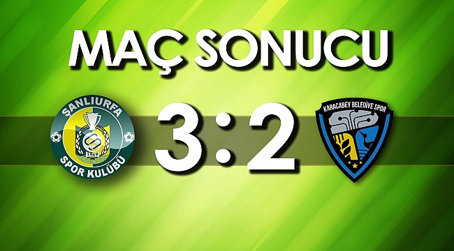 TFF 2. Ligde Şanlıurfaspor 3 puanı 3 golle aldı!