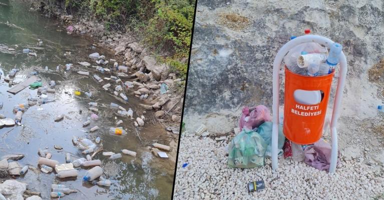 Turizm kenti Halfeti, çöp yığınlarıyla kaplandı