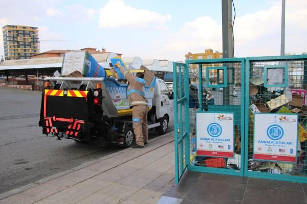 Haliliye'de atık dönüşüm kutuları konumlandırıldı