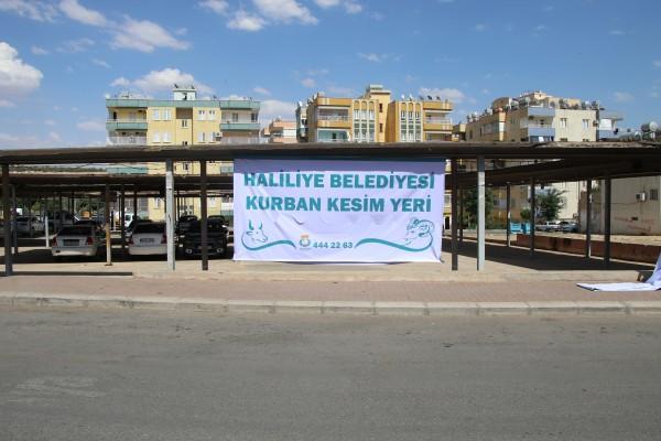 Haliliye'de kurban satış ve kesim yerleri belirlendi