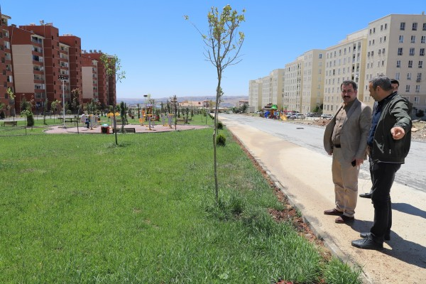 Karaköprü'de park çalışmaları sürüyor