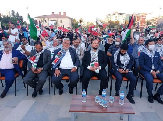 Şanlıurfa'da binlerce Kudüs gönüllüsü nöbete durdu