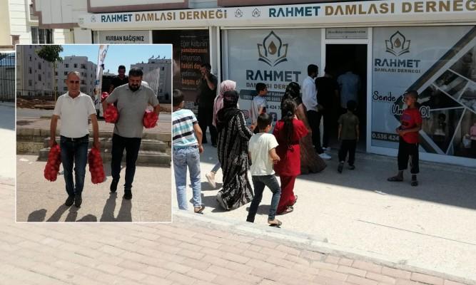Şanlıurfa'da ihtiyaç sahibi ailelere et dağıtıldı